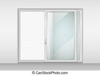 puerta, contemporáneo, corredizo