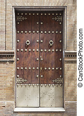 Estilo manija de madera hierro puerta principal for Manijas para puertas de madera
