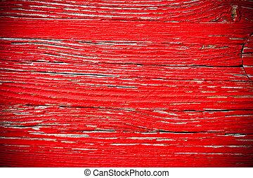 puerta de madera, fondo rojo