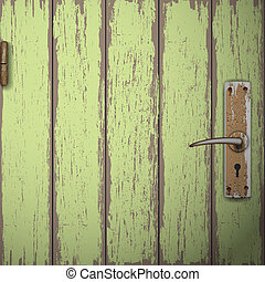 puerta de madera, viejo, plano de fondo