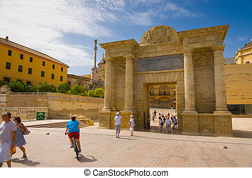 Puerta del Puente - The gate is located on the site of...