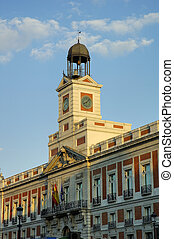 Puerta del Sol in center of Madrid Spain