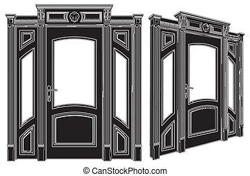 puerta, elegancia