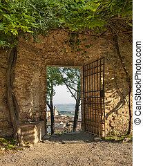puerta, en, san gimignano
