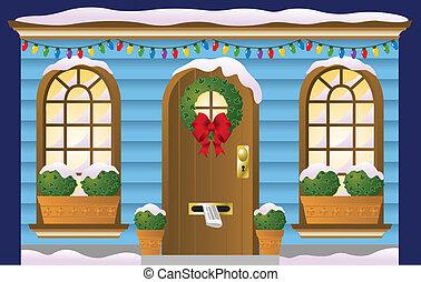 puerta, feriado