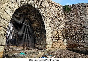 puerta, fortaleza