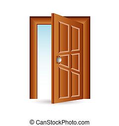 puerta, icono