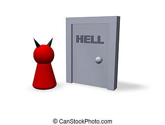 puerta, infierno