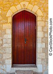 puerta, israel, de madera