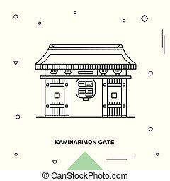 puerta, kaminarimon