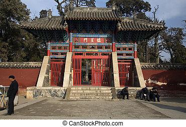 puerta, mencius, china, templo