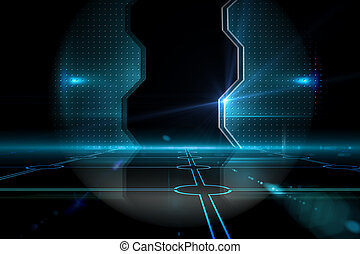 puerta, negro, tecnológico, plano de fondo