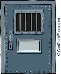 puerta, prisión