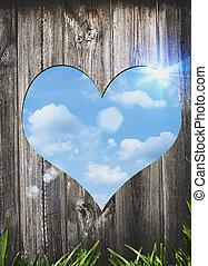 puerta, resumen, love., fondos, valentine, diseño, su