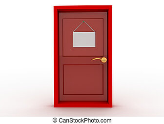 puerta, señal