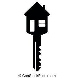 puerta, vida, vector, llave, ventana, hogar, como, familia , feliz, formado, casa