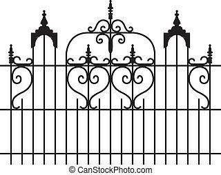 puertas, hierro