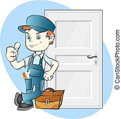 puertas, instalación, reparación