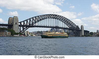 puerto, australia, sydney, puente