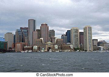 puerto, boston, contorno