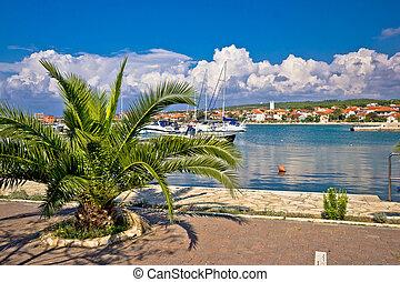 puerto, dalmatia, vista, bibinje, aldea