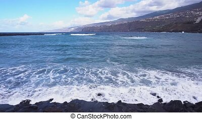 Puerto de la Cruz, Tenerife - beach and ocean in Puerto de...