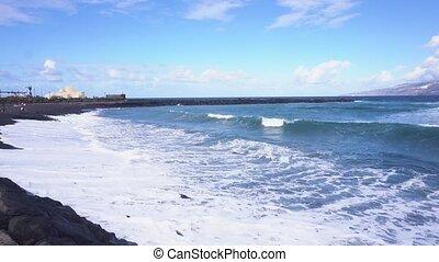 Puerto de la Cruz, Tenerife - beach and ocean in Puerto de...