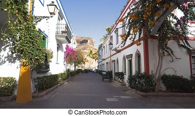Puerto de Mogan village in Gran Canaria, Spain . Famous...