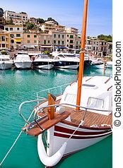 Puerto de Soller Port of Mallorca with lllaut boats
