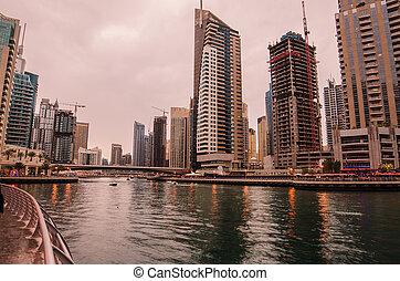 puerto deportivo, árabe, dubai, emirates), (united