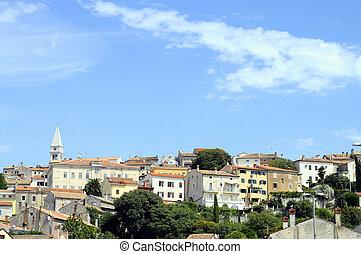 puerto deportivo, croacia, vsar, aldea