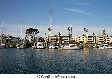 puerto deportivo, islas, canal