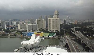 puerto deportivo, lapso, tiempo, singapur
