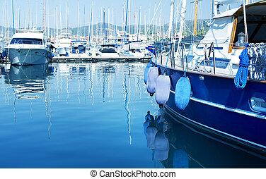 puerto deportivo, lujo, yates