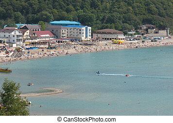 puerto deportivo, orilla, playa, mar