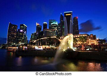 puerto deportivo, singapur, bahía