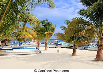 Puerto Juarez Cancun Quintana Roo tropical boats - Puerto...