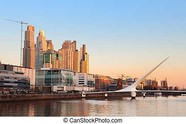 Puerto Madero, Buenos Aires, Argentina. - Puerto Madero...