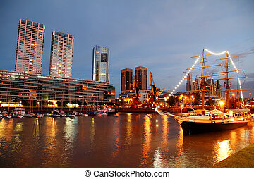 puerto madero, dans, buenos aires