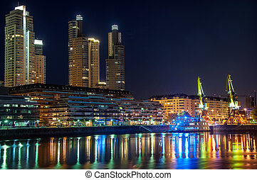 puerto madero, front mer