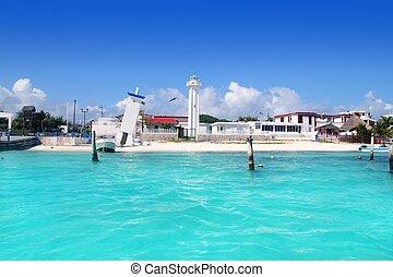 Puerto Morelos beach Mayan riviera Caribbean sea