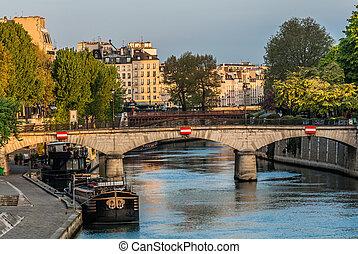 puerto, parís, ciudad, francia