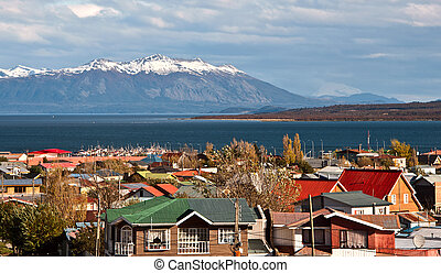 puerto, patagonia, natales, chile