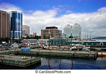 puerto, por, la ciudad
