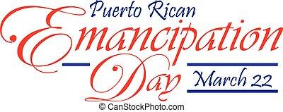 Puerto Rican Emancipation Day Banner - Puerto Rican Puerto...