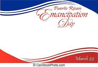 Puerto Rican Emancipation Day Postcard Border with Flag -...