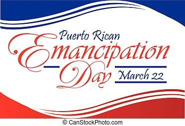 Puerto Rican Emancipation Day Postcard Flyer Banner - Puerto...