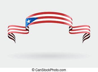 Puerto Rican flag background. Vector illustration. - Puerto...