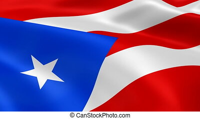 Puerto Rican flag in the wind