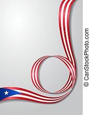 Puerto Rican flag wavy background. Vector illustration. -...